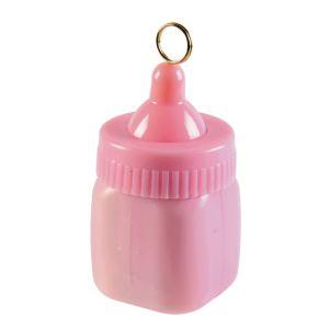 Ballon gewichtje babyflesje roze