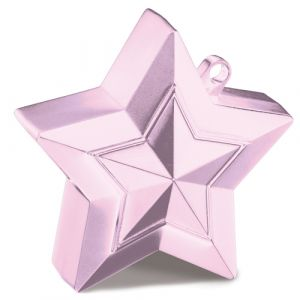 Ballon gewichtje roze ster