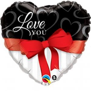 Love you Valentijn folieballon 45 cm