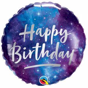 Happy birthday ruimte effect 45 cm
