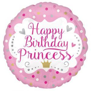 Happy birthday ronde folieballon 45 cm