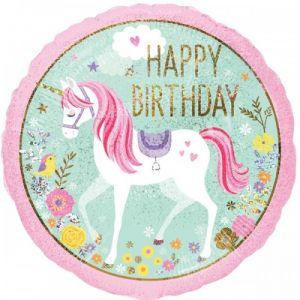 Happy birthday  Eenhoorn 45 cm