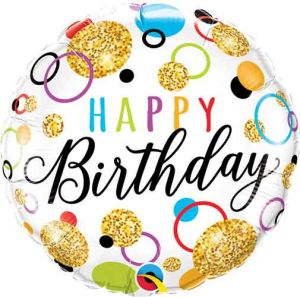 Happy birthday ronde folieballon 46 cm