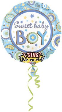 Muziekballon jongen 71 cm