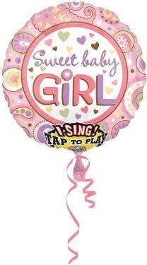 Muziekballon meisje 71 cm