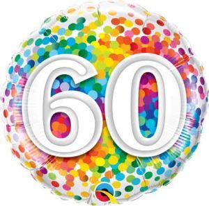 Folieballon 60 jaar (45cm)