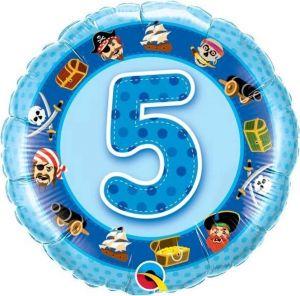 Folieballon 5 jaar (45 cm)