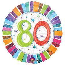 Folieballon 80 jaar (45 cm)