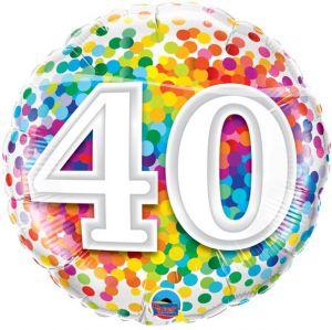 Folieballon 40 jaar (45 cm)