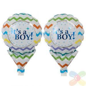 It's a boy / girl ballon op een stokje