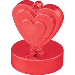 Ballon gewichtje rood hart